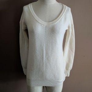 Trina Turk S Merino Wool White Pullover Sweater